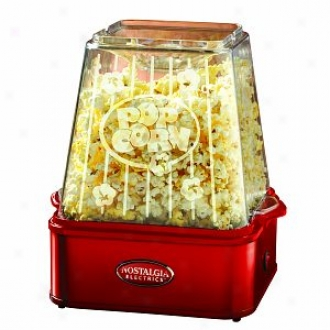 Nostalgia Electrics Tpm-100red 6-quart Stirring Theater Popcorn Maker, Red