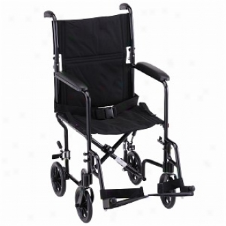 Nova Conveyance Chair 19in. Lightweight With S/a Footrests, Black