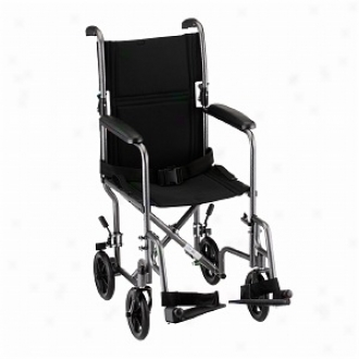 Nova Transport Chair Steel With S/a Footrests, 17 Inch