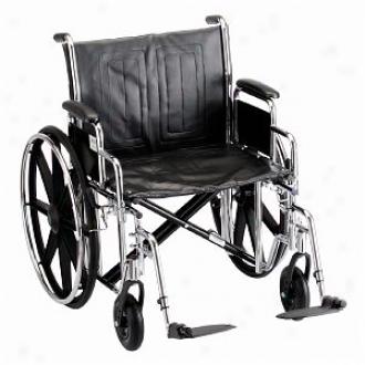 Nova Wheelchair Detachable D/a & S/a Footrests., 22 Inch