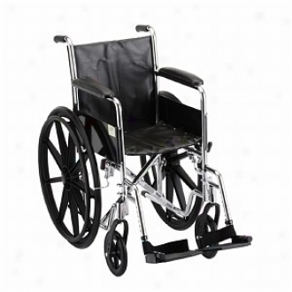 Nova Wheelchair Fixed Arm And S/a Footreats, 16 Inch