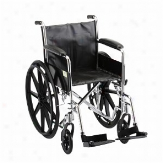 Nova Wheelchair Fixed Arm And S/a Footrests, 18 Inch