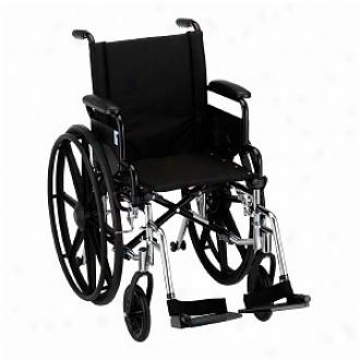 Nova Wheelchair Lightweight With Flip Back D/a & S/a Footrest, 16 Inch
