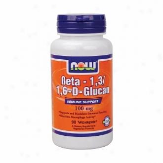 Now Foods Beta 1,3/1,6-d-glucan, 100mg, Vegetarian Capsules