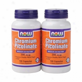 After this Foods Chrmoium Picolinate, 200mg, Capsules (twinpack)