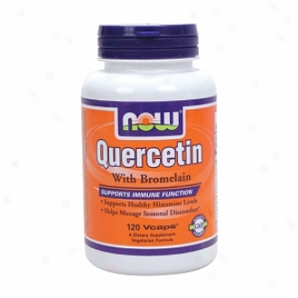 Now Foods Quercetin With Bromelain, Vegetarian Capsules