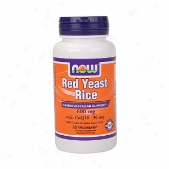 Now Foods Red Yeast Rice & Coq10, 600mg/30mg, Vegetarian Capsules