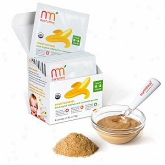 Nurturme Dried Organic  Baby Food In Pouches,  4+ Months, Sweet Bananas, Banana
