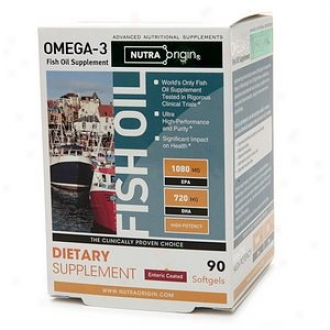 Nutraorigin Omega-3 High Potency Fish Oil, Enteric Softgels
