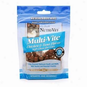 Nutri-vet Multi-vite Adult Soft Meditate Supplement For Cats, Chicken & Tuna