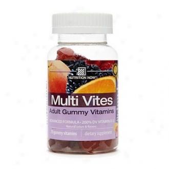 Nutrition Since Multi Vites, Person of mature age Gummy Vitamins, Berry, Peach & Orange