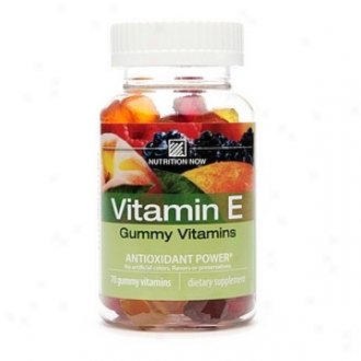 Nutrition Now Vitamin E, Adult Gummy Vitamins, Berry, Peach & Mango