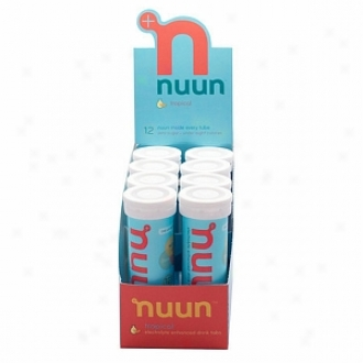 Nuun Electrolyte Enhanced Drink Tabs, Tubes, Tropical