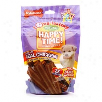 Nylabone Happy Present life! Natural Edible Puppy Chews, Puppy/small