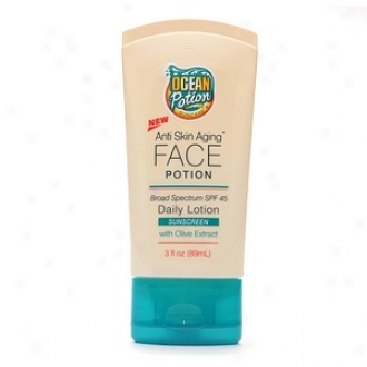 Ocean Potion Suncare nAti Skin Aging Face Potion Daily Motion With Olive Extract Spf 45