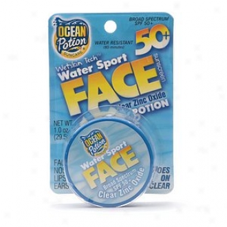 Ocean Potion Suncare Water Play Face Sunscreen Clear Zinc Oxide Spf 50