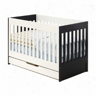 Oggi Kosa Convertible Crib, Dark Chocolate And Vanilla