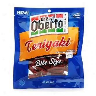 Oh Boy! Oberto Classics, Bite Size Teriyaki Smoked Sausage Sticks
