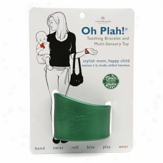 Oh Plah! Teething Bracelet & Multi Sensory Toy, Clover Green