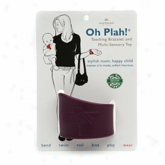 Oh Plah! Teething Bracelet & Multi Sensory Toy, Deep Plum