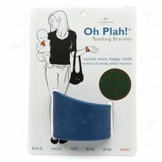 Oh Plah! Teething Bracelet & Multi Sensory Toy, Peacock Blue