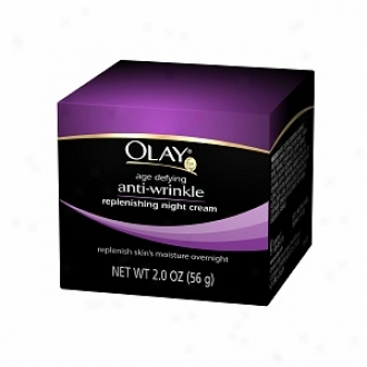 Olay Age Defying Anti-wrinkle Replenishing Darkness Cream, Oil-free