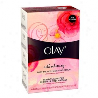 Olay Body Bar With Massaging Design, 4.25oz Bars, Silk Whimst