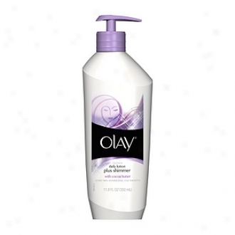Olay Quench Daily Lotion Plus Shimmer, With Cocla Butter