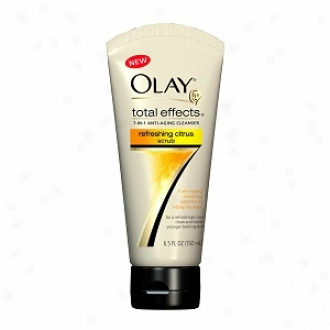 Olay Total Goods 7-in1 Anti-aging Cleamser Refreshing Scrub, Citrus