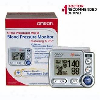 Omron Blood Pressure Monitor, Ultra Premium Wrist Hem-6701 Tn