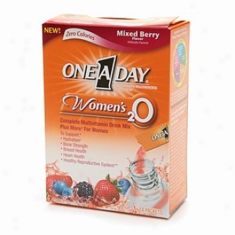 One-a-day Women's 2o Complete Multivitamin Drink Mix Plus More Concerning Women, Mixed Berry