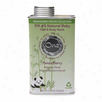 One Baby Endangered Species Collection:  Baby Hair & Body Wash, Panda Berry