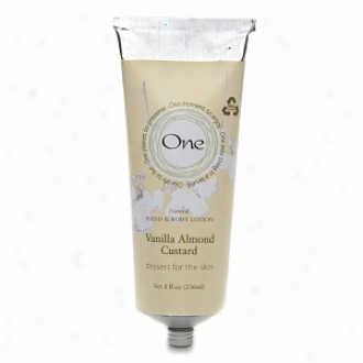 One NaturalH and & Body Lotion, Vanilla Almond Custard