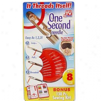 Individual Second Needle Self Threading Needles With Bonus 101 Pc, Sewing Kit