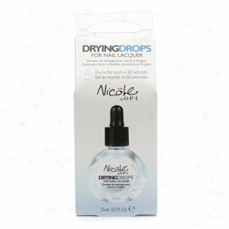 Opi Nicole By Opi Drying Drops For Nail Lacquer, Drying Drops