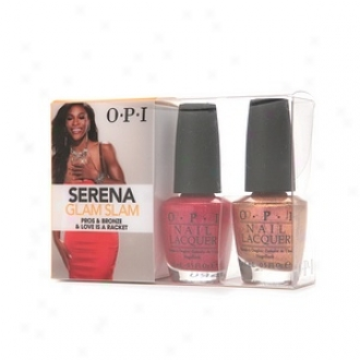 Opi Serenna Glam Slam Collection Duo, Pros & Brown, Love Is A Racket