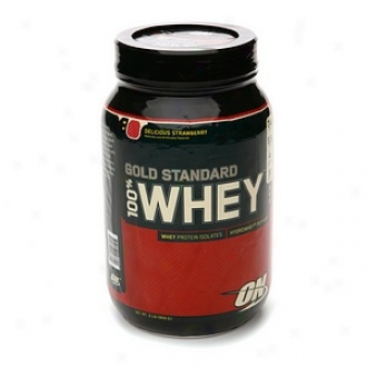 Optimum Nutrition Gold Standard Natural 100% Whey, Luscious Strawberry