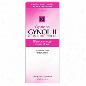 Options Gynol Ii Extra Strength Vaginal Contraceptive Jelly