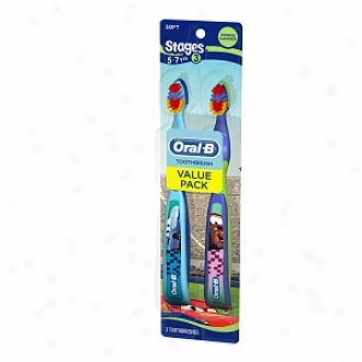 Oral-b Stages Disney Card Manual Toothbrush, Stage 3, Value Pack