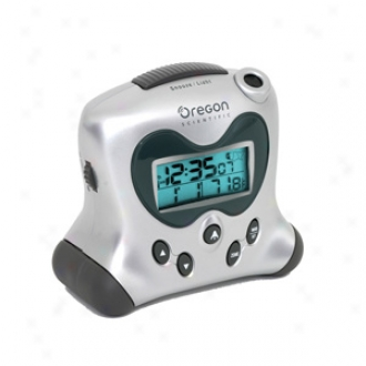 Oregon Scientific Atomic Time And Temperature Projection Clock Rm313pna Soft and clear