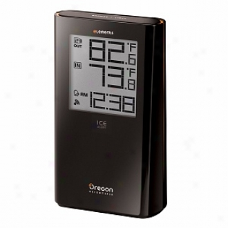 Oregon Scientific Ew92 Elements Wireless Indoor/outdoor Thermometer With Atomic Clock