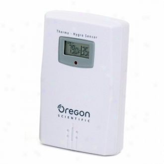 Oregon Scientific Thgn122nx Wireless Temperature & Moisture Sensor With Display