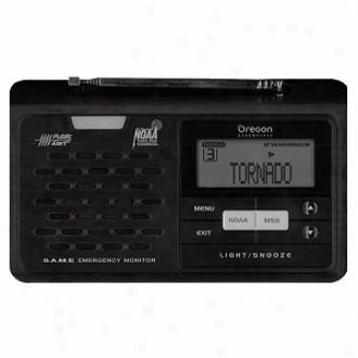 Oregon Scientific Wr608 Noaa Weather Desktop Emergency Alert Radio