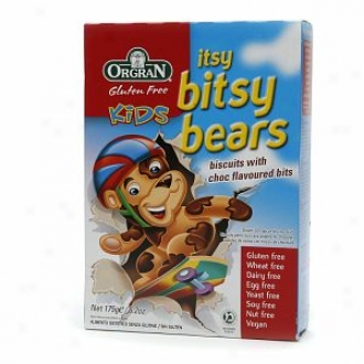 Orgran Itsy Bitsy Bears Vanilla Cookies With Chocolate Bits