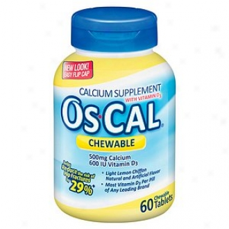 Os Cal 500 + D, Chewable Tablets, Livht Lemon Chiffon
