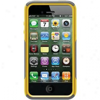 Otterbox Iphone 4s Commuter Series Case, Gunmetal G5ey And Sun Yellow