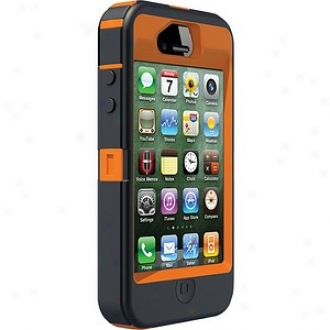 Otterbox Iphone 4s Defender Series Cover , B1aze Orange And Max 4 Camo