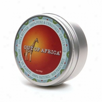 Out Of Africa 100% Pure &am;p Unrefined Shea Butter Tin, Unscented