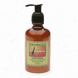 Out Of Africa Organic Shea Butter Hand Lotion, Lemon Verbena