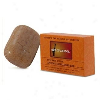 Out Of Africa Pure Shea Butter Exfoliating Bar Soap, Apricof